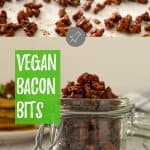 Vegan bacon bits PIN with text overlay.