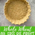 vegan pie crust PIN with text overlay.