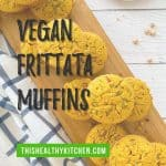 vegan frittata muffins PIN with text overlay.